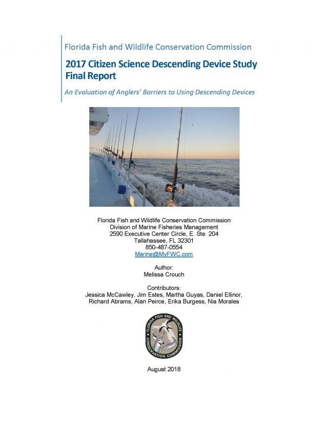FWC 2017 Citizen Science Descending Device Study Final Report